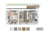 Rénovation d'une suite avec chambre, bureau, dressing et salle de bain.
